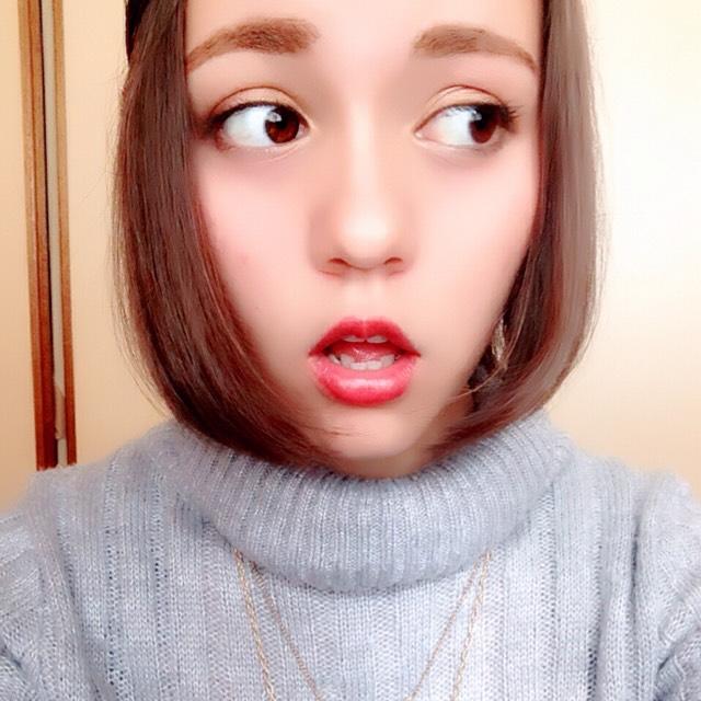 冬のブラウンリップメイク(byちぇる)のAfter画像