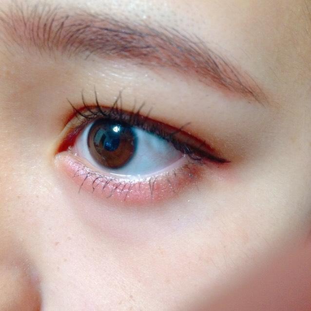 口紅と他の色が濃いからあえて裸眼でやりすぎ感が出ないように!