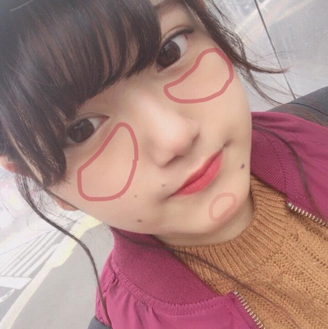 ❁︎本題のチーク  顎先チークをすると、 ・小顔効果 ・女の子らしい顔になれる♡ ・顔が明るく見える 最近好きで入れてます。