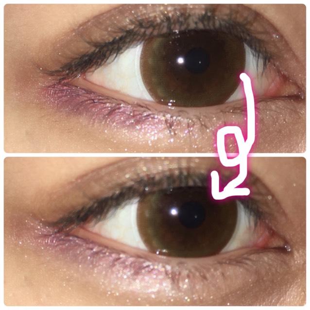 そしてりかりこちゃんは目の下に紫っぽいのをのせてるので。 チークとブルーのアイシャドウで目の下にアイシャドウをする。