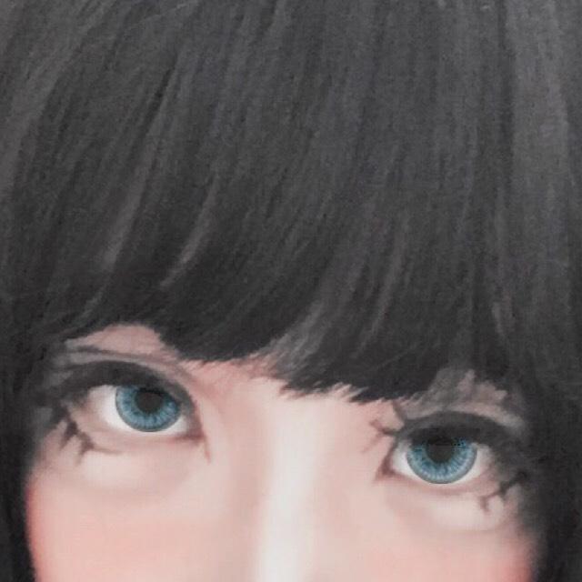 茶色のシャドウで涙袋の影を描きます。 描き方に関しては他記事の「chiiiiiさん風デカ目メイク」をご覧くださいませ。 ※今回は涙袋部分に白シャドウは入れていません