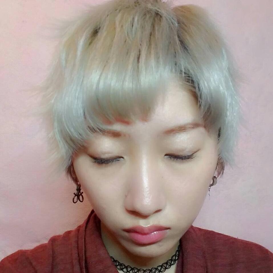 白髪に合わせたメイクのAfter画像