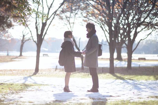 雪が降った次の日に昭和記念公園で撮影して頂きました(*´꒳`*)
