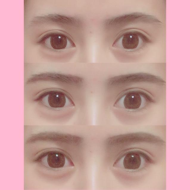 ♡眉毛♡ ペンシルで理想の形を描き、 髪の色に合わせて眉マスカラで色を染めます