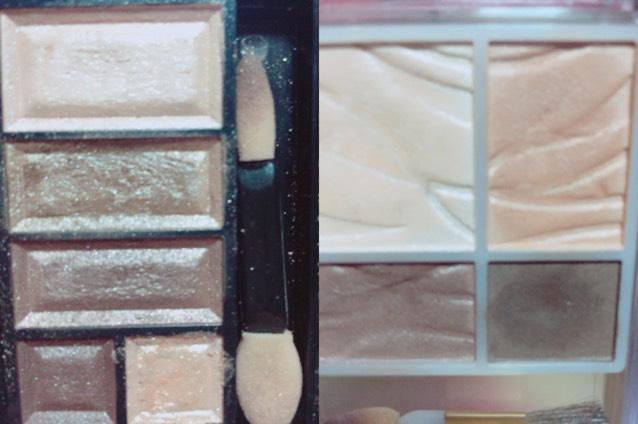 アイシャドウはキャンメイクのアイシャドウをメインに使い涙袋にリンメルのアイシャドウの一番下の右側のキラキラ入れて、涙袋の影をセザンヌの一番濃い色で描きました!