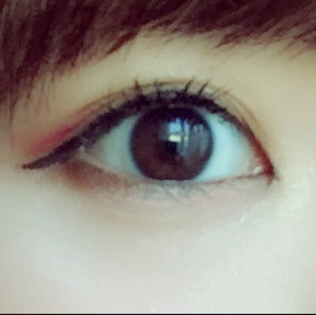 目尻ピンクメイクのAfter画像