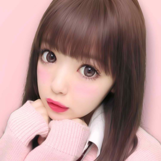 ピンクメイクのAfter画像