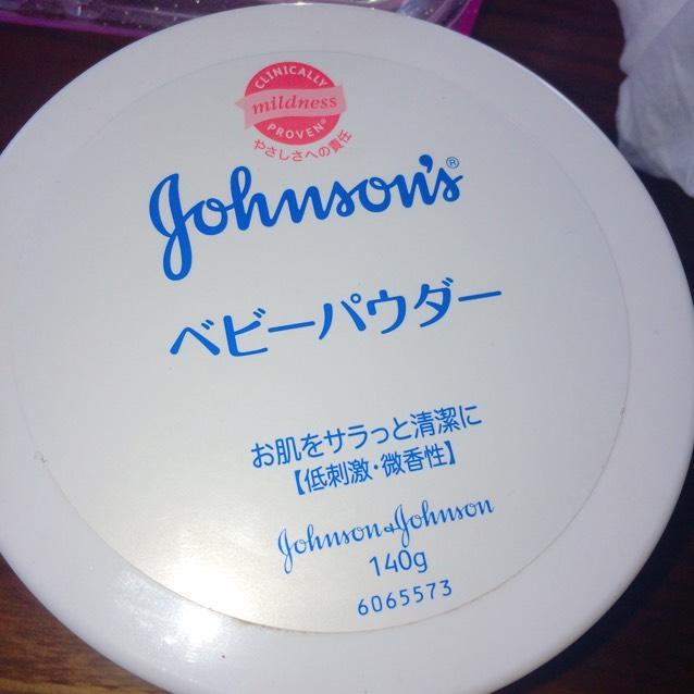 ジョンソンベビーパウダーを使います!