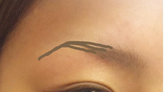 シャープの方は、上に上げるように描き眉山にかけて細く眉山から眉尻にかけて細く描きます。