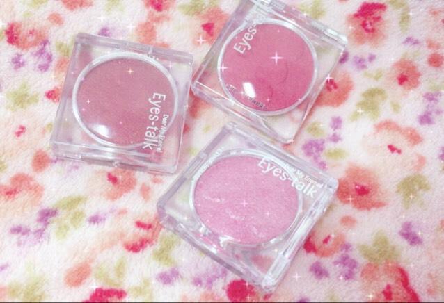 今回は春の新作コスメを紹介します  【Pink Color】  ETUDE HOUSE Dear My Enamel Eyes-Talk  PK001 BE101 RD301