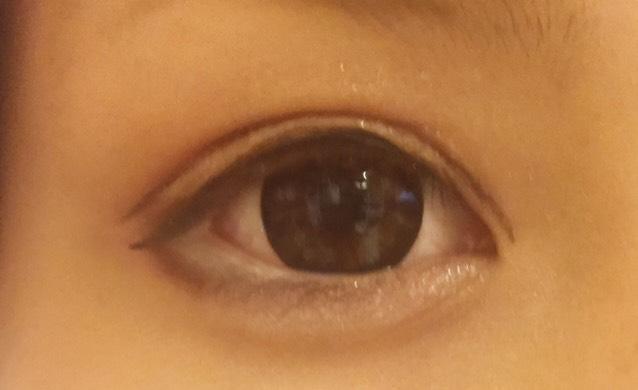 ラインを二重に描きたしたときの目を開いたverです!