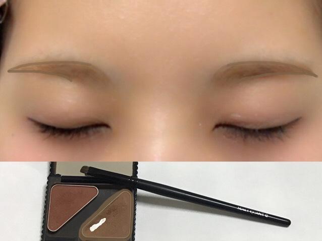 アイブロウ ▷眉下→眉上→眉頭→眉中の順でのせると自然に◎