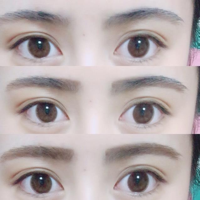 ♡眉毛♡ 自分の好きな形になるよう ペンシルで描き足し、カラーマスカラで眉毛を染めます!