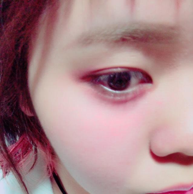 甘め赤メイクのAfter画像