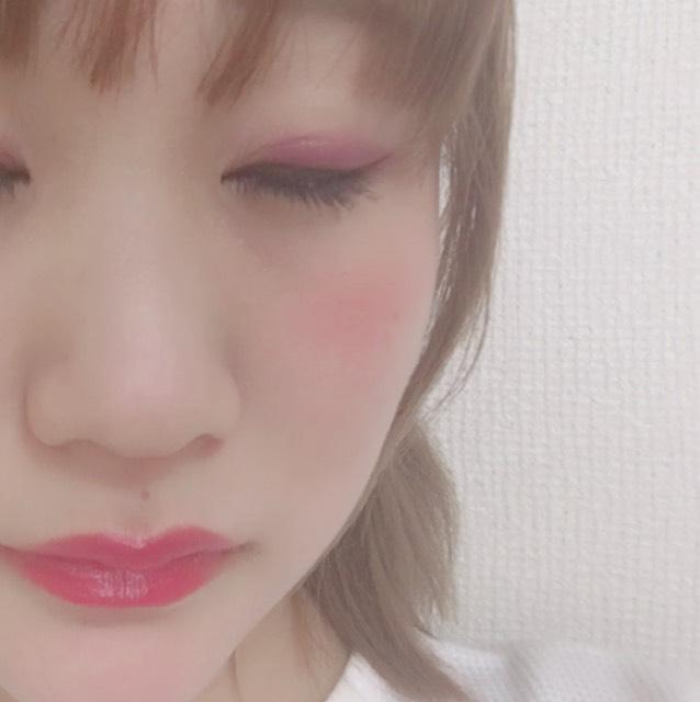 パープルピンク春メイクのAfter画像