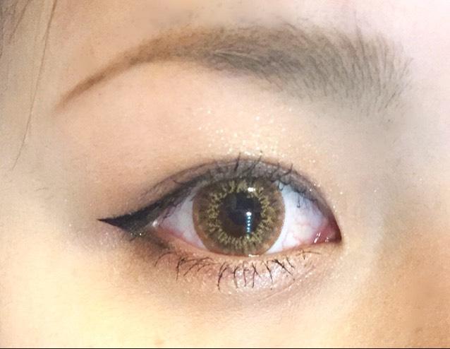 目の大きさ詐欺メイクのAfter画像