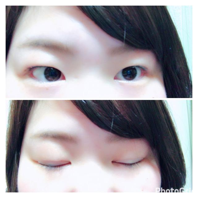 ①眉毛は急いでても大事! 平行に書いていきました。