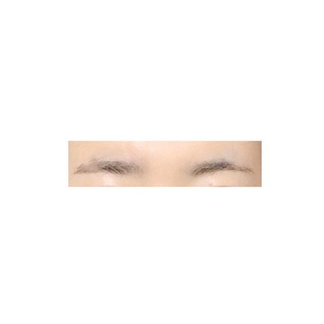 私的 眉毛の作り方のBefore画像