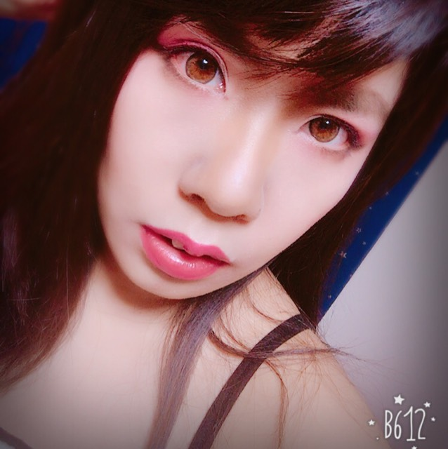 春色ピンクメイク(ハーフ顔風)