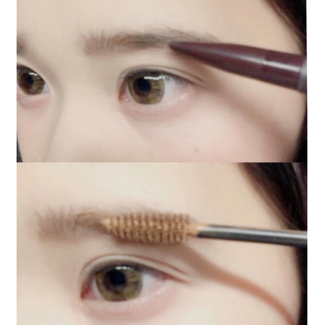 ベースは後で別で載せます。 今回は濃いめの眉にしたいのでペンシルを使って眉毛を描いていきます
