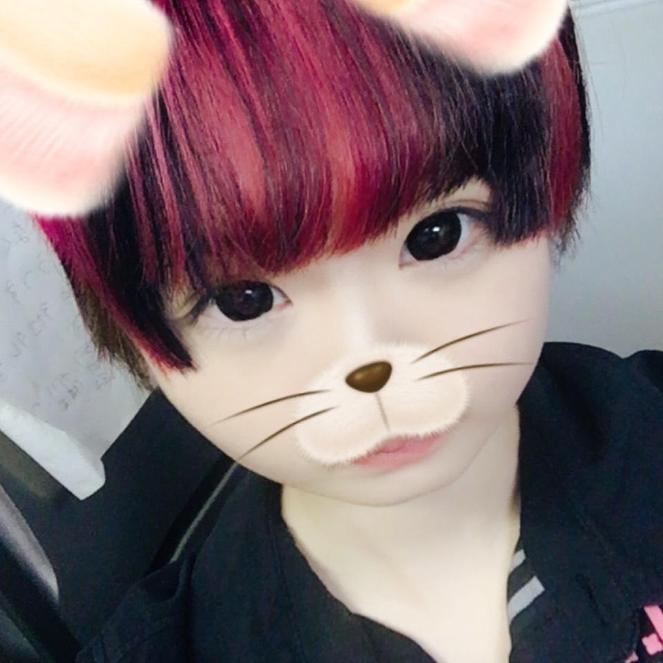 髪を赤にしたので
