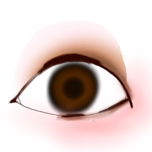 ラインは大事!!暗めのブラウンの色を黒目の上を太めに、タレ目にガッツリ引いて黒目の下にちょんちょんと、切開ラインもひきます!