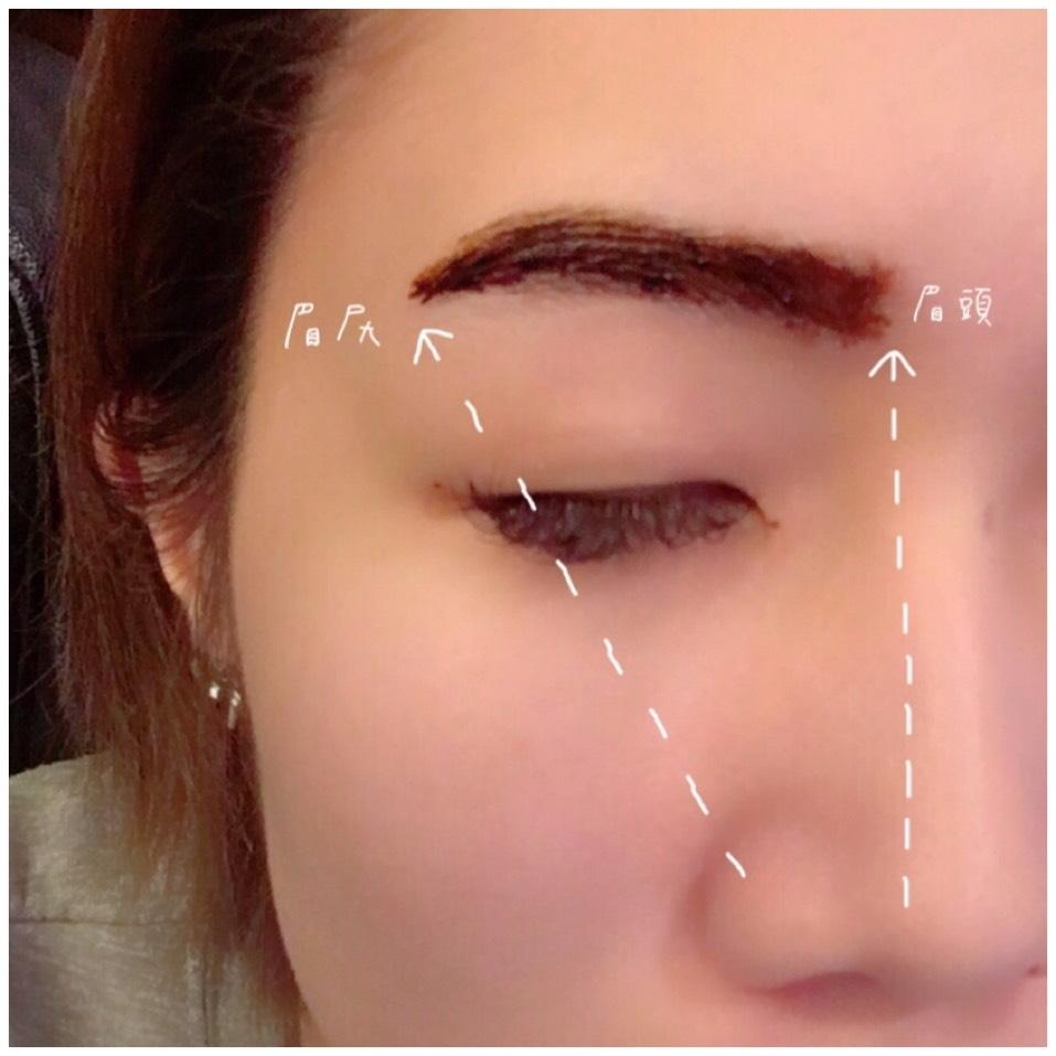 ちなみに眉毛を書く時のコツら鼻筋の上が眉頭になるように  小鼻からななめまっすぐにぶつかるところが眉尻になると綺麗な眉毛の形になります!