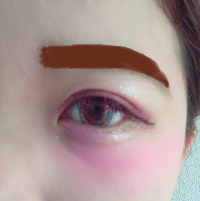 眉ティント 濃い