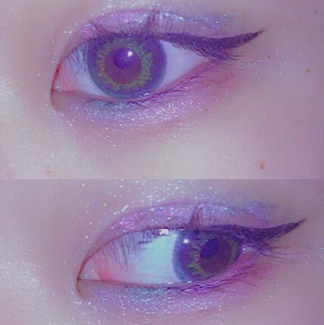 眉毛はピンクにしてチークはなし!リップは青みピンク!