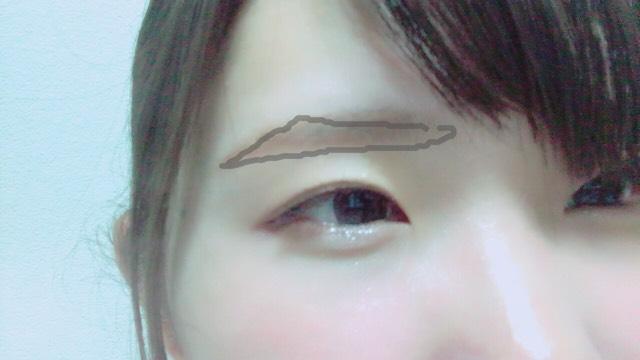 眉毛はこんなイメージで描きます  目尻長めにしてペンシルで枠を取りパウダーで埋めるだけ!