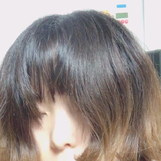 黒髪で清楚系メイクのBefore画像
