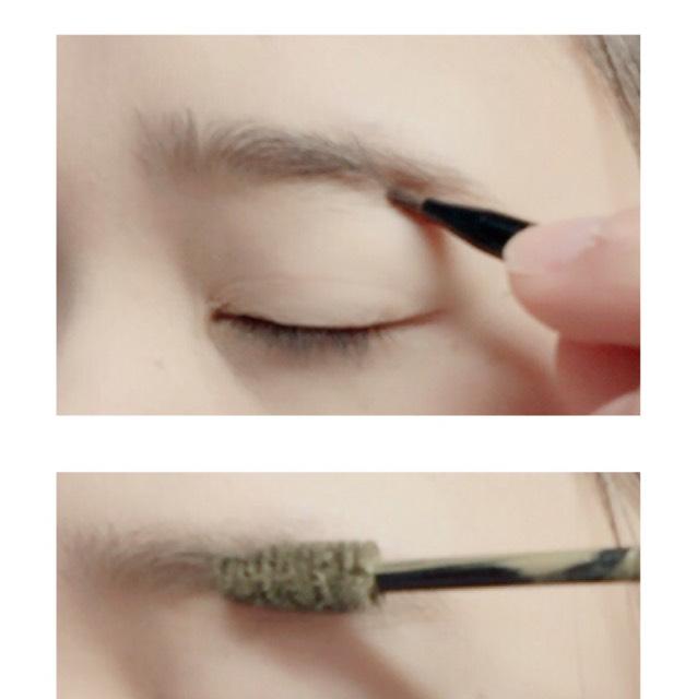 毛糸のパウダーで形をざっと書き百均のマスカラを使い色を変えます