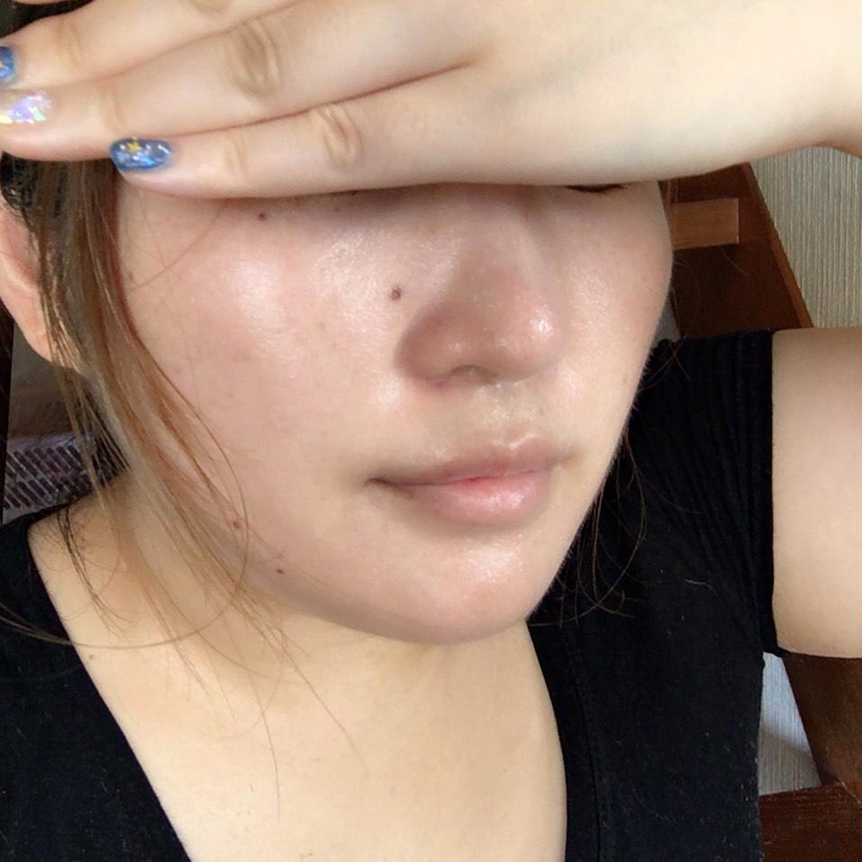 汗に負けないツヤ肌ベースメイク♡のBefore画像