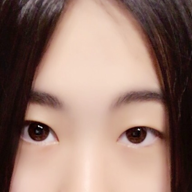 黒髮に似合う整形メイク、(ドールメイク目指しました)のBefore画像