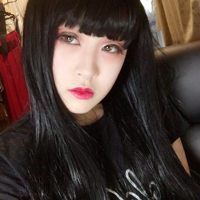 黒髮に似合う整形メイク、(ドールメイク目指しました)