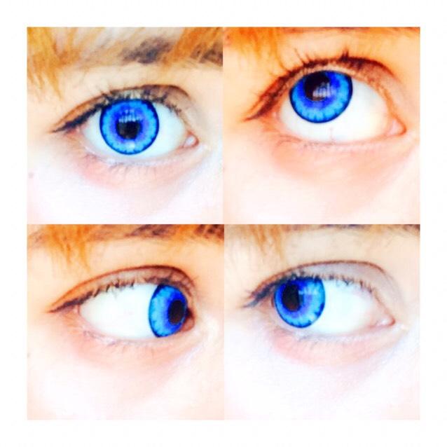 カラコンです。 etiaさんのブルーローズカラーでとても発色が良くて、馴染みがいいです。 動かしてもゴロゴロしなくてつけてる感じがしません。