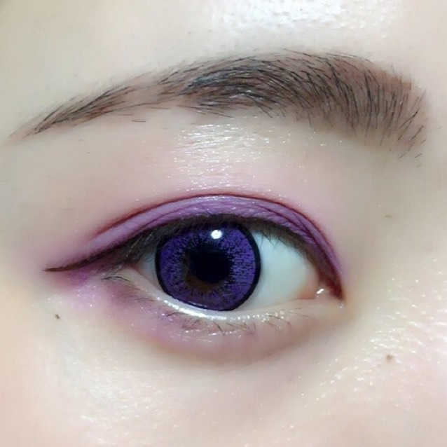 カラーメイク~紫~のAfter画像
