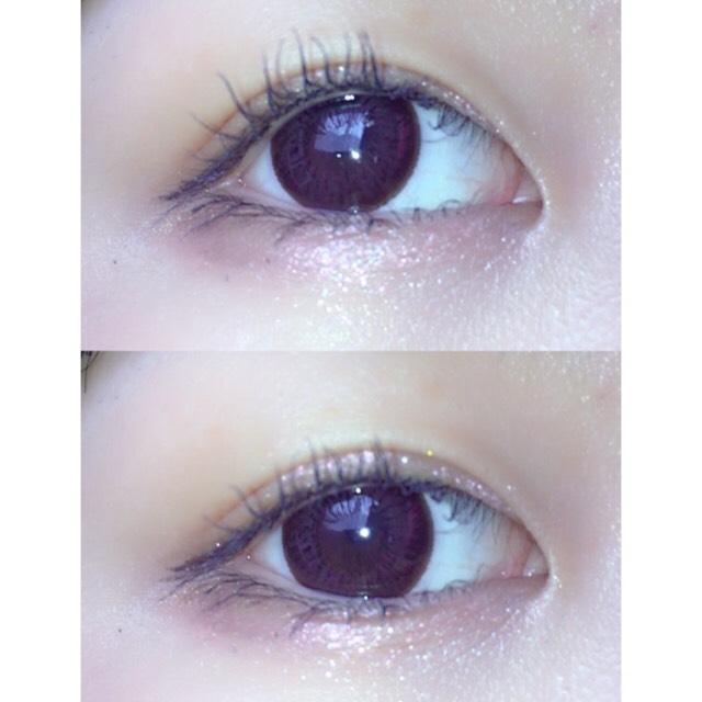 タレ目に見えるようにすこしブラウンを目尻側に入れます  奥二重のひとは目尻が強めになってしまうことが多いので涙袋目頭側にラメをいれます わたしはパーフェクトスタイリストアイズの真ん中のカラーを使ってます