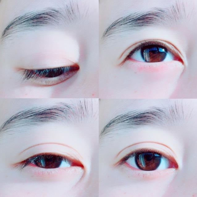 すっぴん裸眼はこんな感じです。 コンタクト外してアイボンしたばっかりだから赤い(笑)