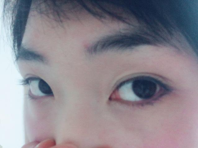 【赤チーク】病弱小悪魔メイクのBefore画像