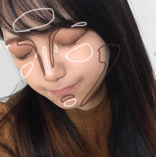 ❁︎ハイライト・シェーディング  鼻筋、目周りのハイライトはリンメルのアイシャドウの白い部分を使っています! ラメの感じとか艶が最高で使ってます(笑)