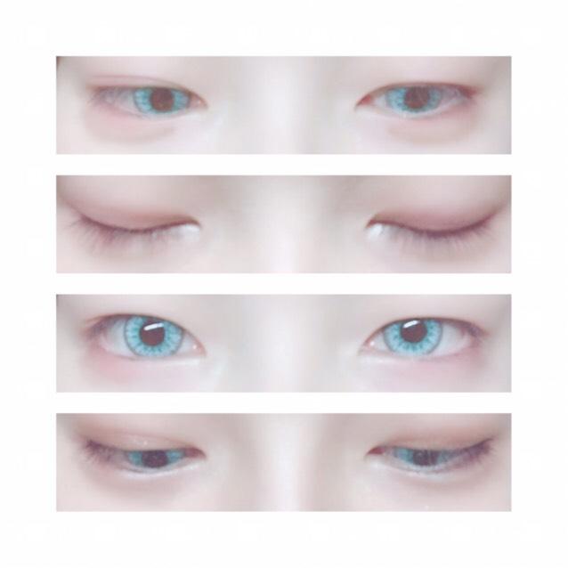 裸眼からのカラコン装着は省きます。 アイシャドウ説明です。 何もないまっさらな状態からアイホール全体に薄い色を乗せてもokですが私はメンドクセ!で濃い赤を一気につけて伸ばしています。それでも重たい奥二重なので目を開くと何も塗っていないように見えます...。 気持ち涙袋の目尻側を濃い紫でクラデーションしました。 赤はあんまりつけすぎると腫れぼったくなるのでご注意を!