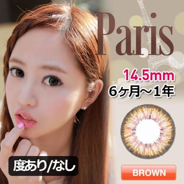 ブリングアイ paris brown DIY 14.5ミリ BC 8.8 含水率 38% 使用期間6ヵ月〜1年