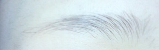 眉毛の描き方のBefore画像