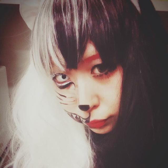 ハロウィン 化け猫メイク
