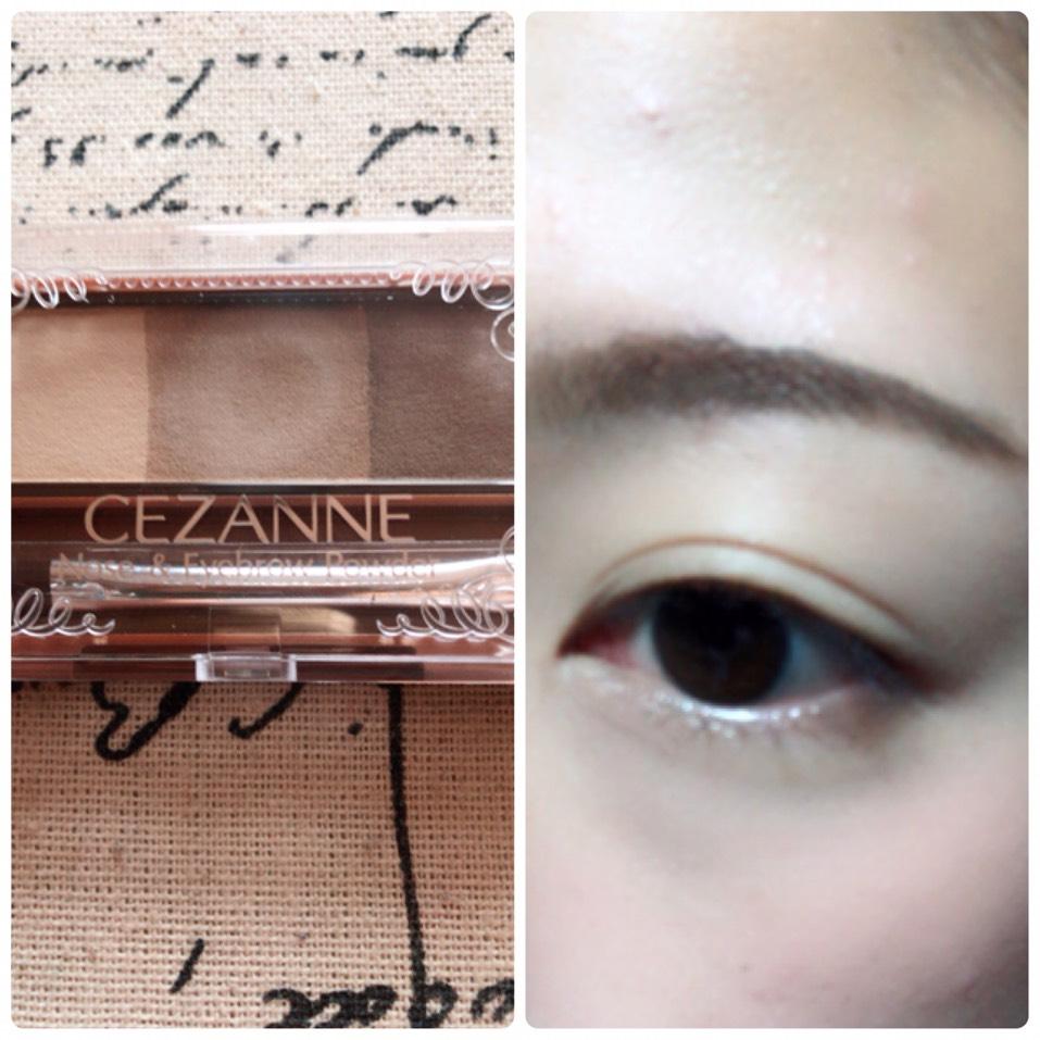 眉尻は濃いめ、眉頭は薄め、真ん中は中間の色で眉毛を細眉気味に書きます。