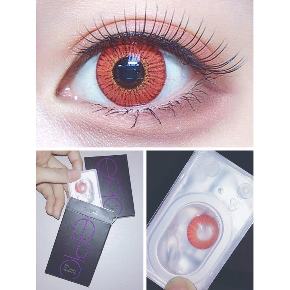 今回使用するカラコンはこちら。 TeAmo EPIC SERIES(カラー:ROSSA)  ハロウィン限定カラコン!思いきって念願の初赤眼にチャレンジ、カラー配色も発色も綺麗すぎました…◎