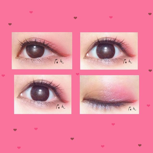 マスカラは上下2度塗り 場合によっては下地を使ってもよいかも  必要に応じて上瞼の黒目の上につけまをつける!  今回の写真には上瞼だけに2センチにカットしたつけまを貼ってます