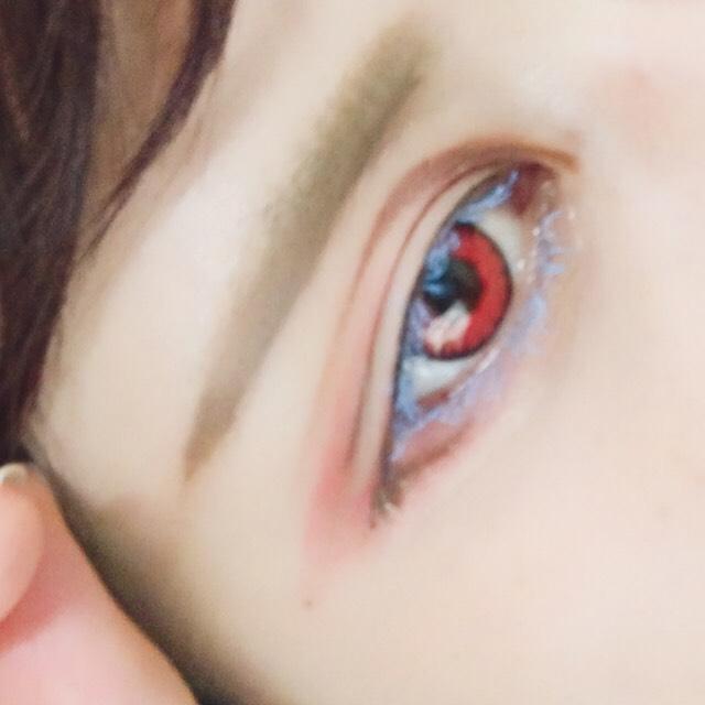 ⑦ 眉毛をまっすぐに描く
