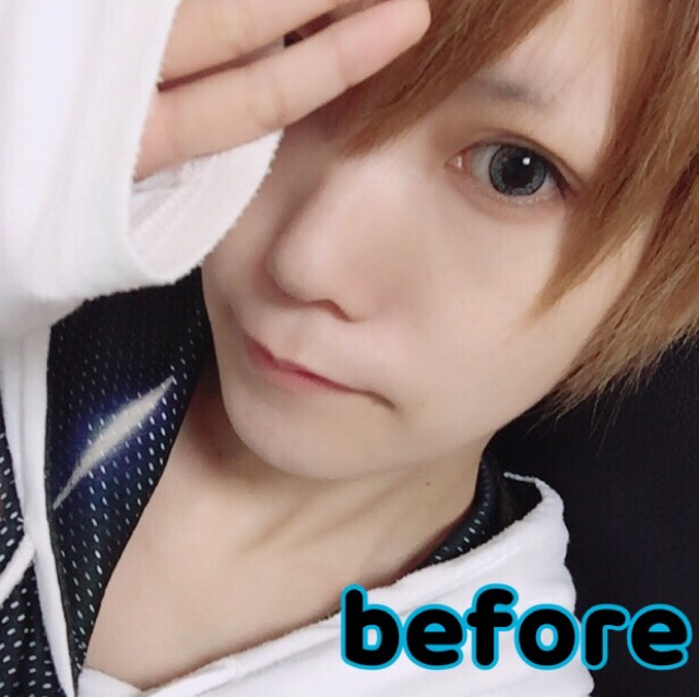 男装メイク(ショタ、少年系)のBefore画像